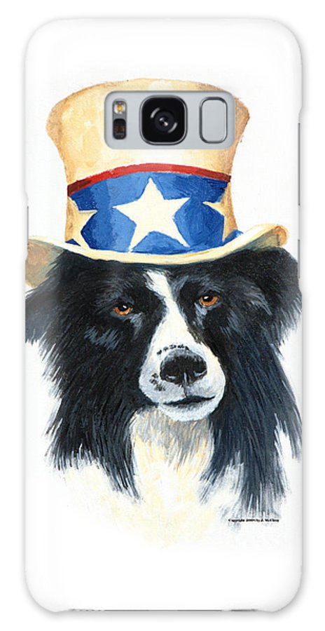 Dog Galaxy Case featuring the painting In Dog We Trust by Jerry McElroy