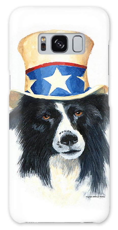 Dog Galaxy S8 Case featuring the painting In Dog We Trust by Jerry McElroy