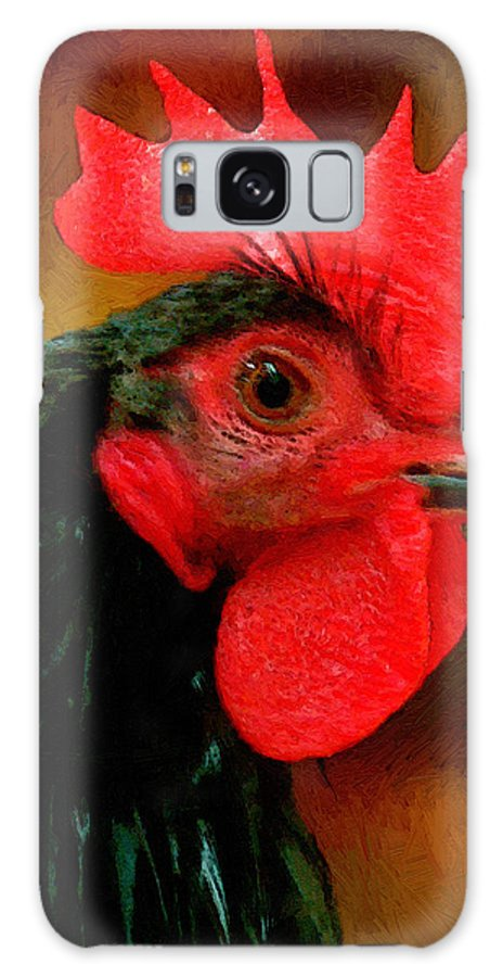 Bird Galaxy S8 Case featuring the painting In Fine Fettle by RC DeWinter
