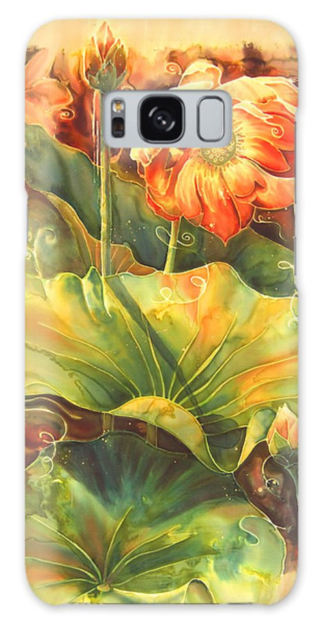Flower Galaxy S8 Case featuring the painting In Full Bloom by Deborah Younglao