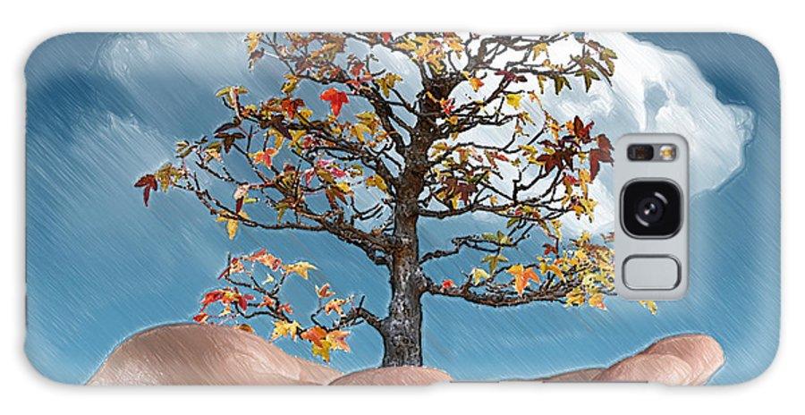 Arboretum Galaxy S8 Case featuring the digital art In His Hands by John Haldane