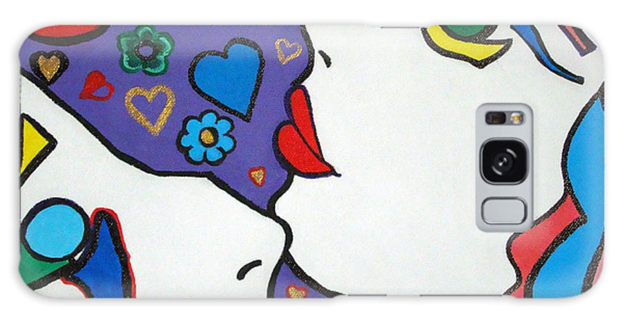 Pop-art Galaxy Case featuring the painting In Love by Silvana Abel