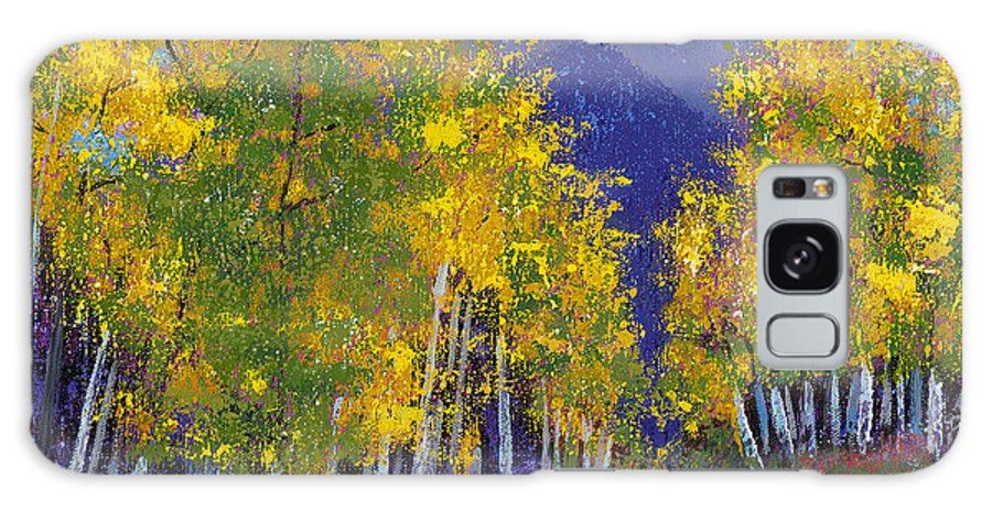 Purple And Yellow Paintings Galaxy S8 Case featuring the painting In Love With Fall River Road by Margaret Bobb