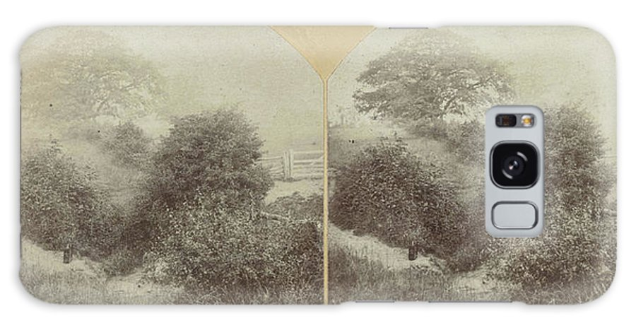 Prestbury Park Galaxy S8 Case featuring the drawing In Prestbury Park Near Cheltenham Uk, Baynham Jones by Artokoloro