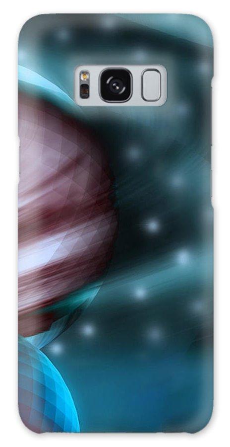 Space Art Galaxy Case featuring the digital art In Space by Linda Sannuti