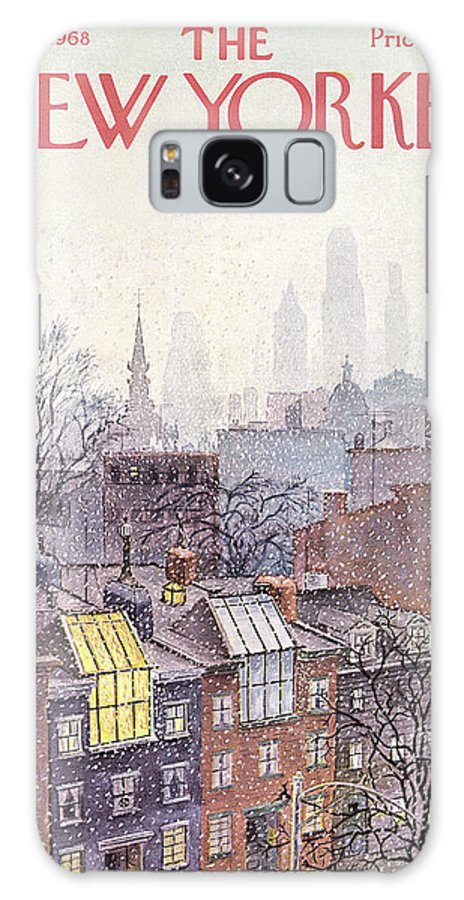 Albert Hubbell Ahu Galaxy S8 Case featuring the painting New Yorker March 2, 1968 by Albert Hubbell