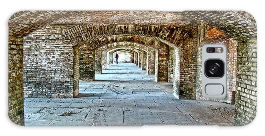 Key West Galaxy S8 Case featuring the photograph In The Fort Arches by Alice Gipson