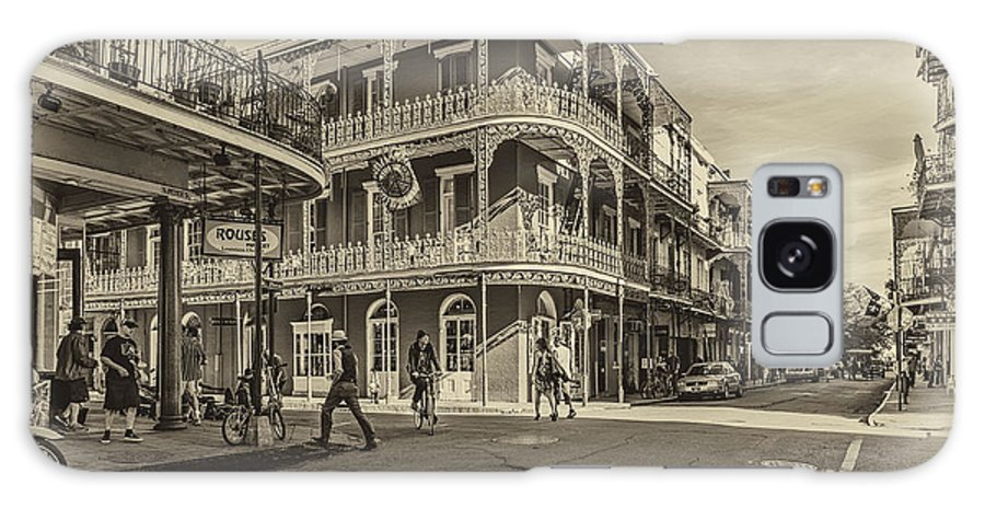French Quarter Galaxy S8 Case featuring the photograph In The French Quarter Sepia by Steve Harrington