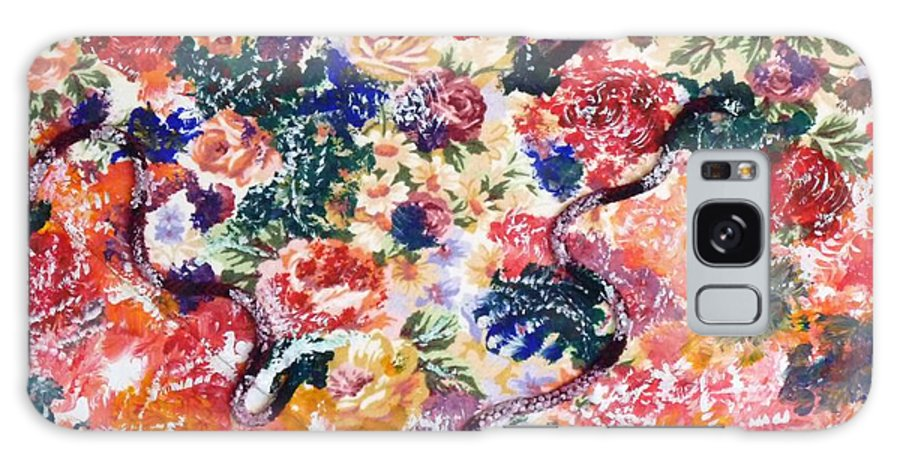 Mixed Media Galaxy S8 Case featuring the painting In The Garden I by Alys Caviness-Gober