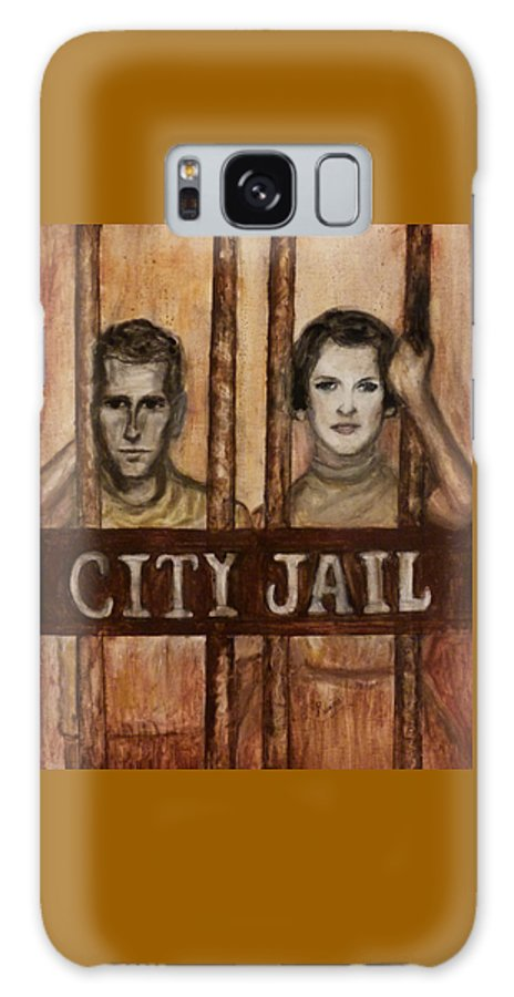 Jail Galaxy S8 Case featuring the painting In The Jailhouse Now by Regina Brandt