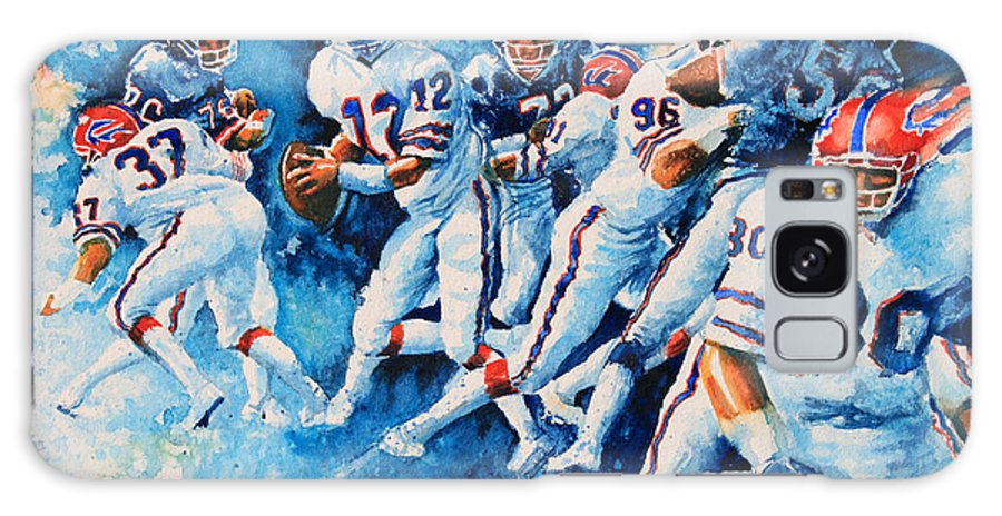 Sports Art Galaxy S8 Case featuring the painting In The Pocket by Hanne Lore Koehler