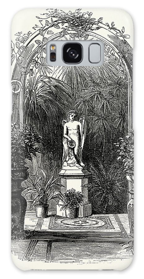In Winter Garden Galaxy S8 Case featuring the drawing In The Winter Garden by Litz Collection