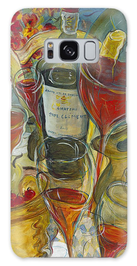 Table Galaxy S8 Case featuring the painting In Vino Veritas - Original Sold by Bernard RENOT