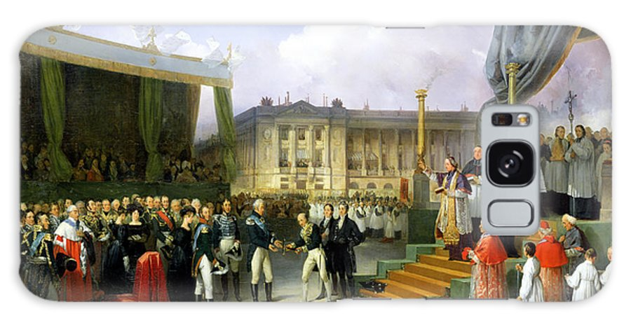 Inaugurating Galaxy S8 Case featuring the photograph Inauguration Of A Monument In Memory Of Louis Xvi 1754-93 By Charles X 1757-1836 At The Place De La by Joseph Beaume