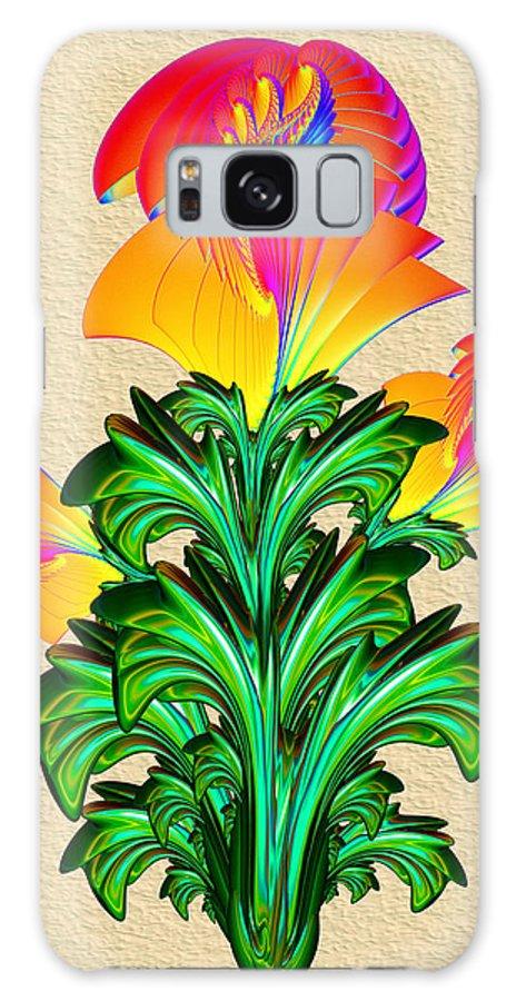 Orange Galaxy S8 Case featuring the digital art Incendia Flowers #5 by Pat Follett