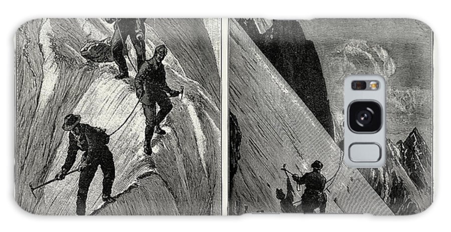 Incidents Galaxy S8 Case featuring the drawing Incidents Of Climbing In The High Alps, 1889 On The Alsirat by Litz Collection