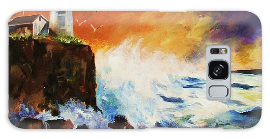 Light House Galaxy S8 Case featuring the painting Incoming Squall by Al Brown