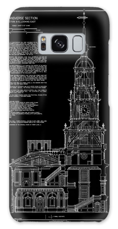 independence Hall Galaxy S8 Case featuring the photograph Independence Hall Transverse Section - Philadelphia by Daniel Hagerman