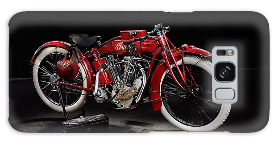 Motorcycle Galaxy S8 Case featuring the photograph Indian 8-valve Racer by Frank Kletschkus