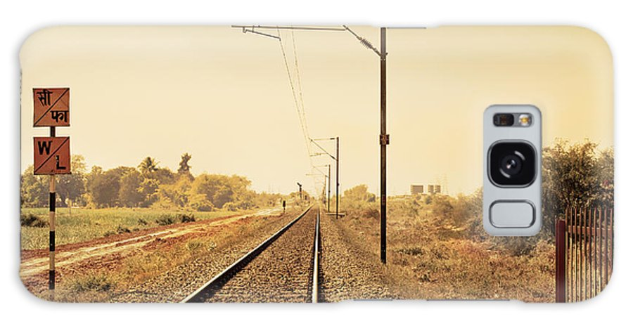 Landscape Galaxy S8 Case featuring the photograph Indian Hinterland Railroad Track by Kantilal Patel