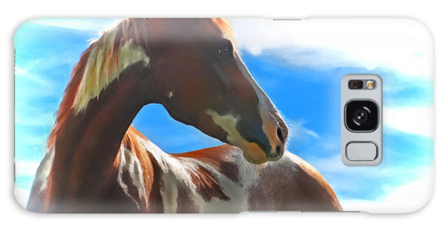 Horse Galaxy S8 Case featuring the digital art Indian Paint by Posey Clements