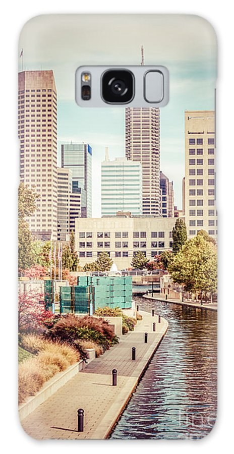 1960s Galaxy S8 Case featuring the photograph Indianapolis Skyline Old Retro Picture by Paul Velgos