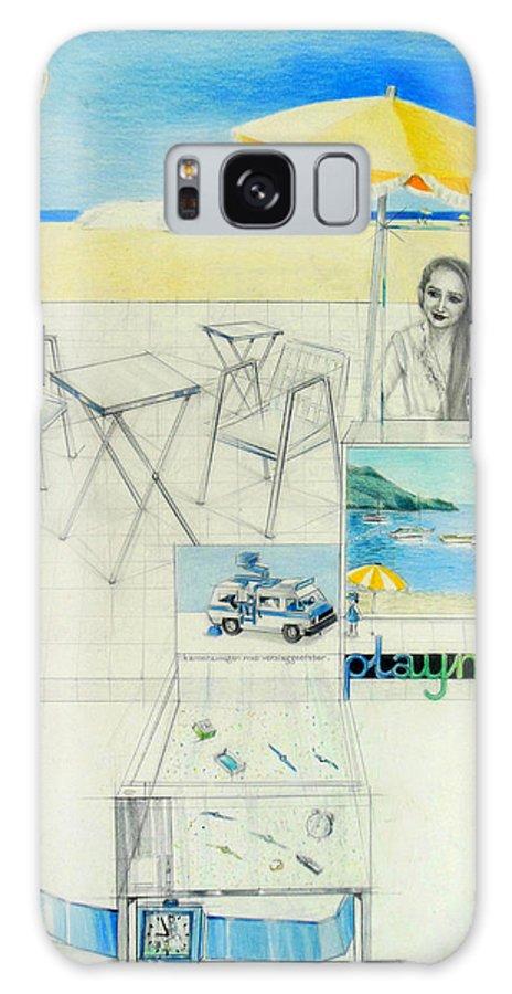Inge Hoogervorst Galaxy S8 Case featuring the drawing Inge Dua by Lucia Hoogervorst