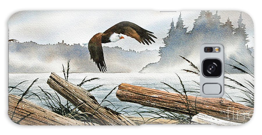 Eagle Fine Art Print Galaxy S8 Case featuring the painting Inland Sea Eagle by James Williamson