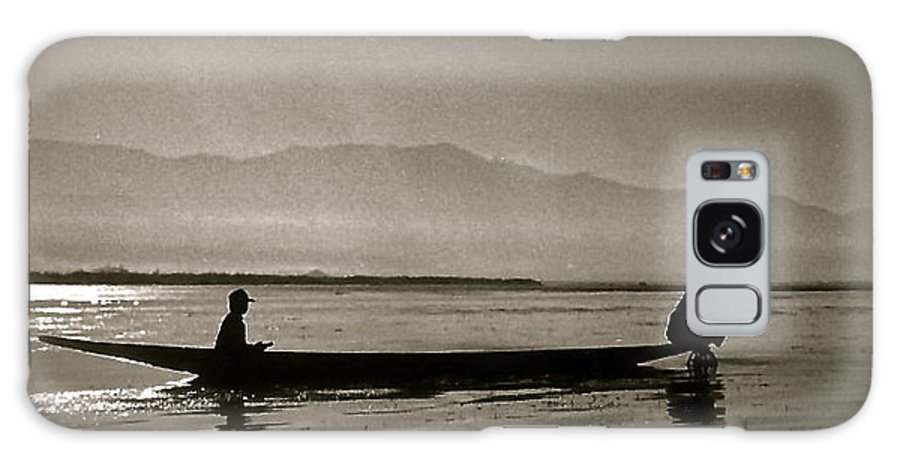 Inle Lake Galaxy S8 Case featuring the photograph Inle Fishermen by Kim Pippinger