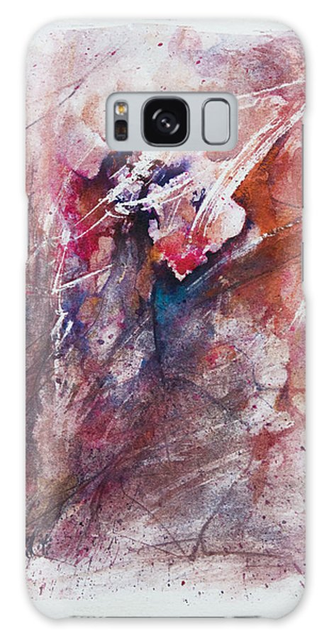 Abstract Galaxy S8 Case featuring the painting Inner Conflict by Rachel Christine Nowicki