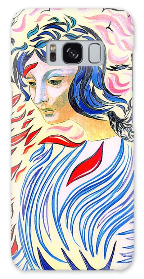 Love Galaxy S8 Case featuring the painting Inner Peace by Jane Small