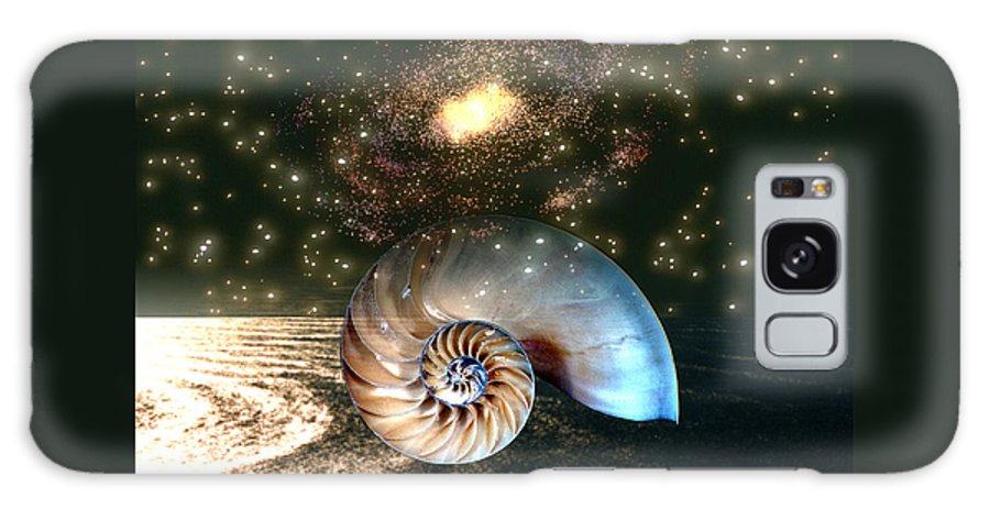 Shell Galaxy S8 Case featuring the digital art Inner Space Outer Space by Lisa Yount