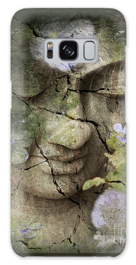 Buddha Galaxy Case featuring the mixed media Inner Tranquility by Christopher Beikmann