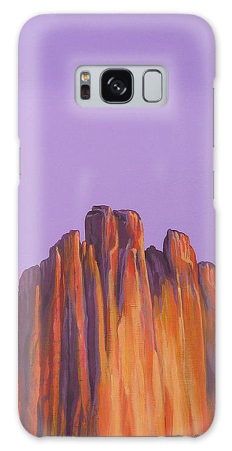 Landscape Galaxy S8 Case featuring the painting Inscription Rock by Hunter Jay