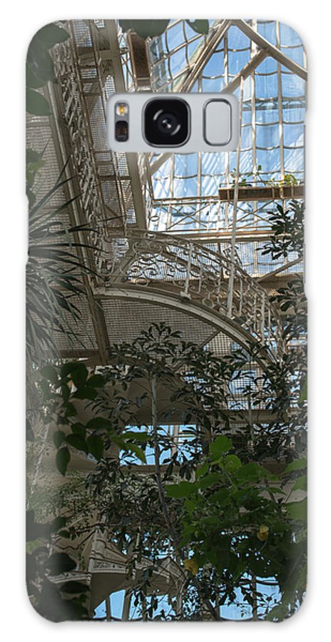 Greenhouse Galaxy S8 Case featuring the photograph Inside Beautiful Old Greenhouse by Frank Gaertner