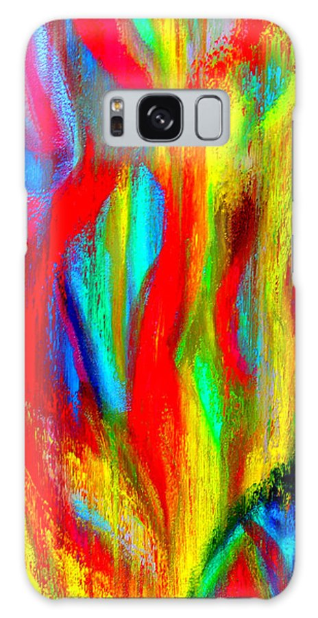 Abstract Galaxy S8 Case featuring the painting Inspire Experiment by Stan Hamilton