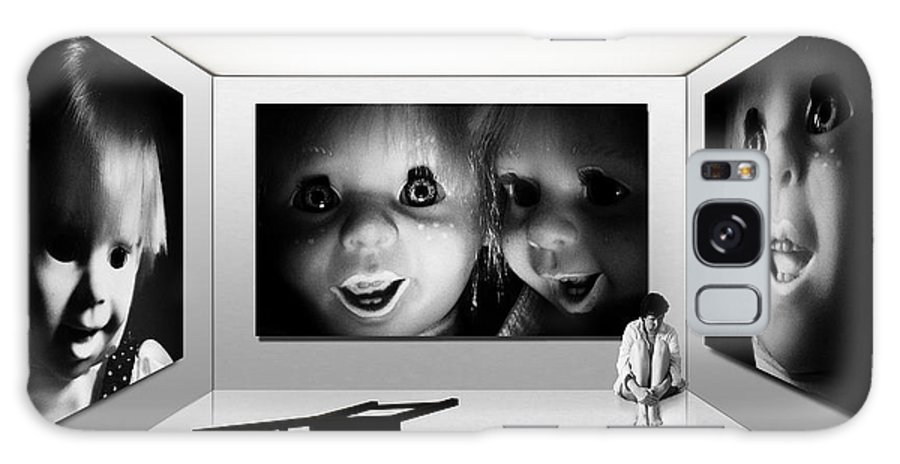 Black And White Galaxy S8 Case featuring the photograph Insurmountable Fears by Malcolm Bumstead