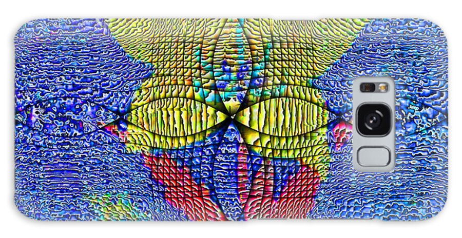 Abstract Galaxy S8 Case featuring the digital art Interference Pattern by Jack Bowman