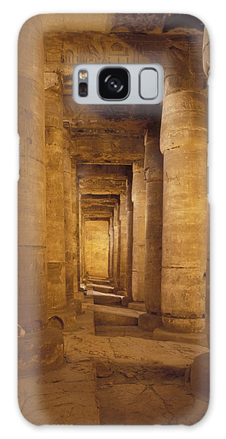 Temples Galaxy S8 Case featuring the photograph Interior Of Mortuary Temple Of Seti I by James Morris