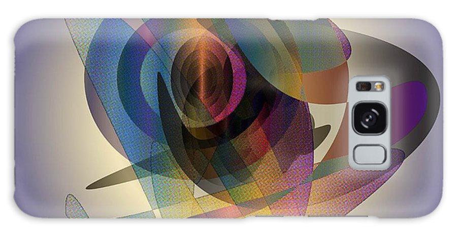 Digital Galaxy S8 Case featuring the digital art Interlocking Circles by Iris Gelbart