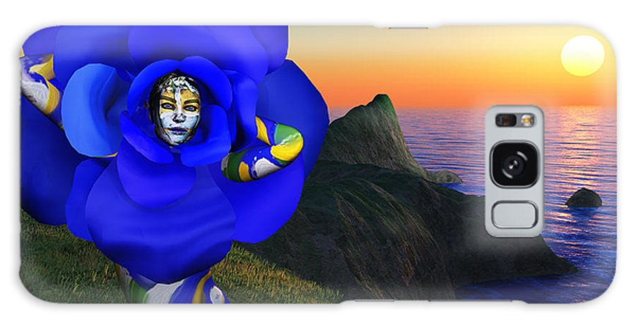 3d Galaxy S8 Case featuring the painting internal beauty-Blue Rose by Williem McWhorter