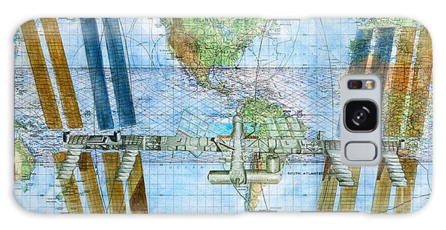 International Space Station Galaxy S8 Case featuring the painting International Space Station by Christianne Spousta