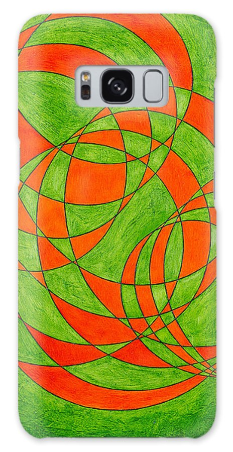 Abstract Oil Painting Galaxy S8 Case featuring the painting Intersection, No. 1 by Mark Lewis