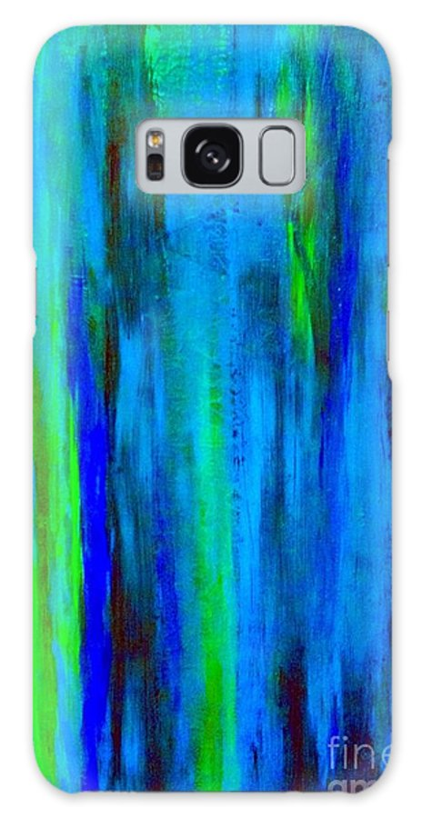 Abstract Blue Galaxy S8 Case featuring the painting Into The Blue by Saundra Myles