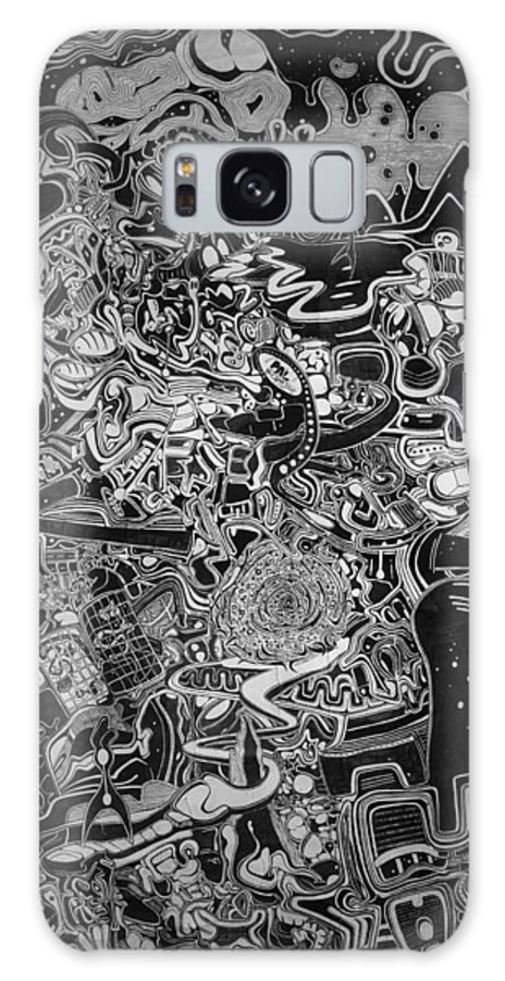 Intricate Galaxy S8 Case featuring the drawing Intricate Emotions 2 by Philip Latour