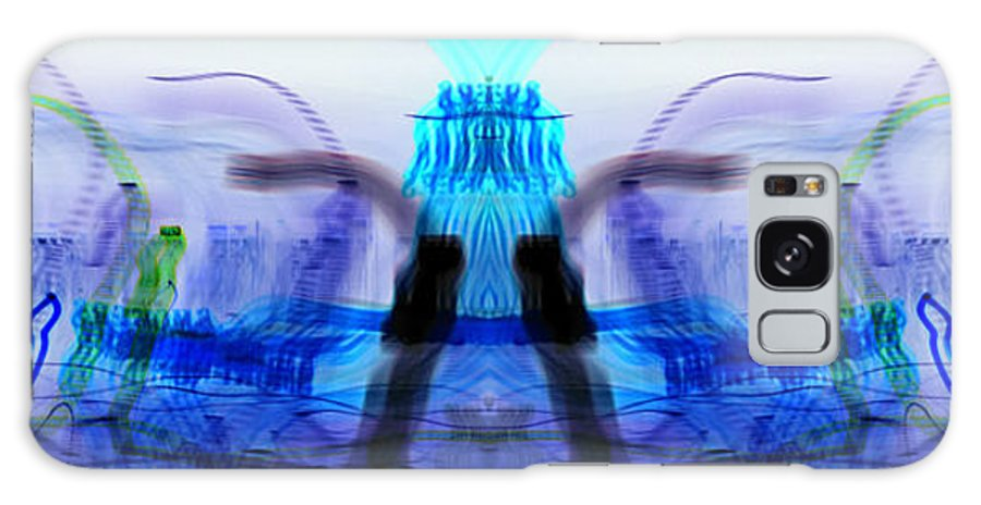 Experimental Photography Galaxy S8 Case featuring the photograph inverted Mirrored Symmetry And Electron Volcano Waves Photography by Don Lee
