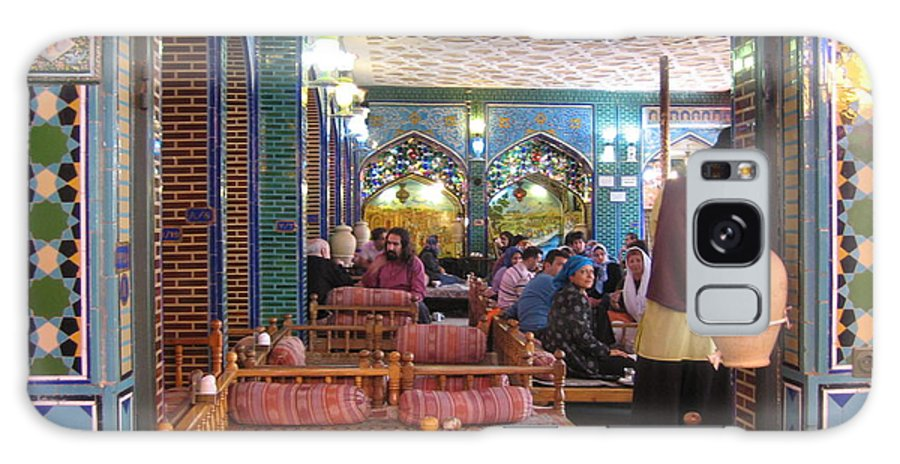 Iran Galaxy S8 Case featuring the photograph Iran Isfahan Restaurant by Lois Ivancin Tavaf