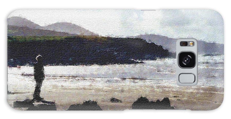 Ireland Galaxy S8 Case featuring the photograph Irish Coast Pastel Chalk by David Lange
