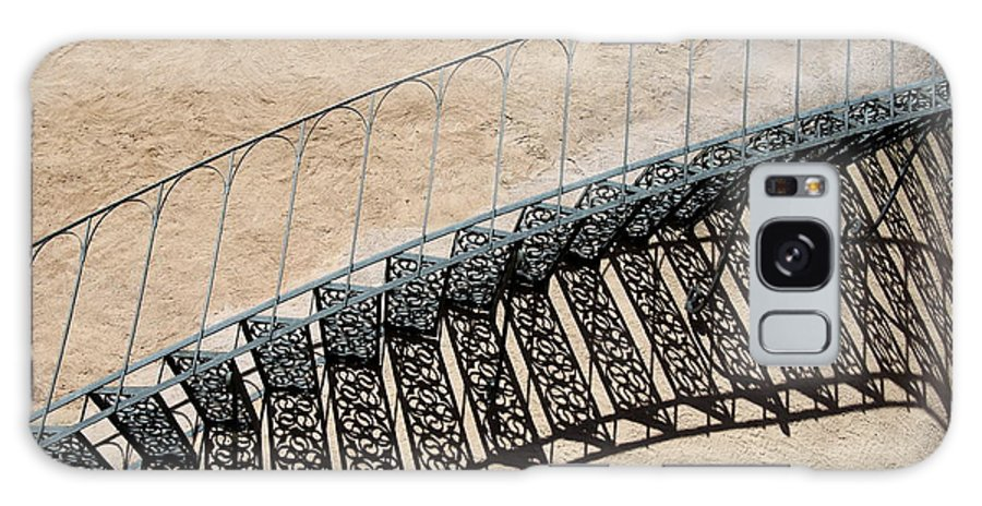 Stairs Galaxy S8 Case featuring the photograph Iron Stairs Shadow by Christiane Schulze Art And Photography