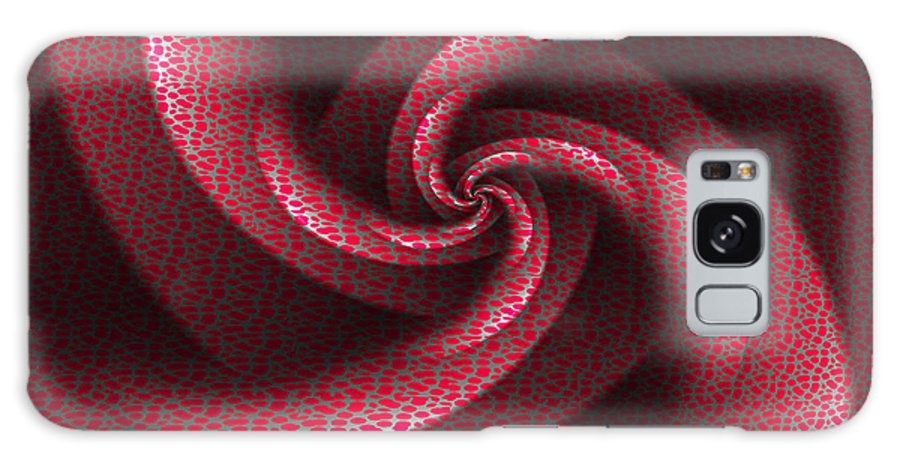 Art Galaxy S8 Case featuring the digital art Isabella's Pinwheel by Michael Sussna
